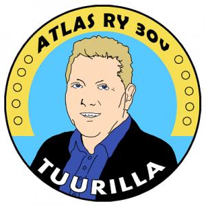 haalarimerkki - Atlas ry 30 v